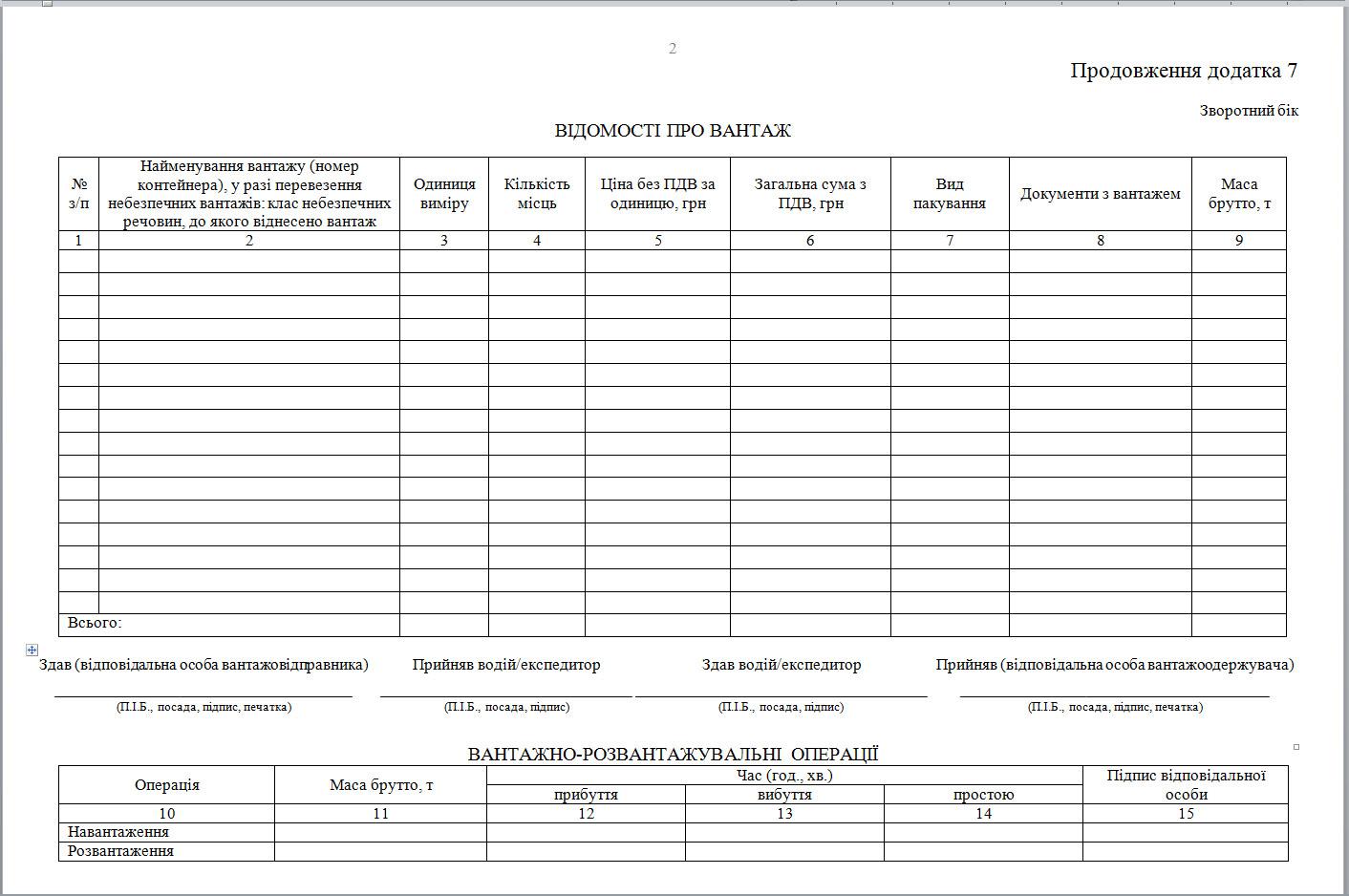 бланк податкова накладна березень 2014р.